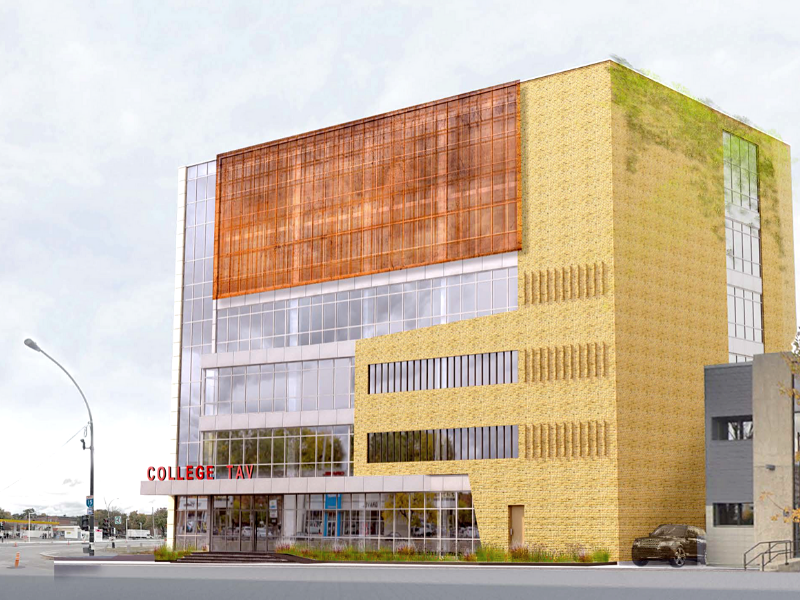 "TAV's ""C Building"" Will be the Newest College Campus in Montreal"