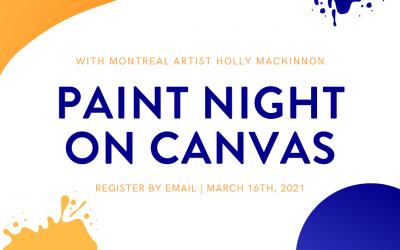 Nuit de peinture avec Holly MacKinnon (*EN ANGLAIS seulement)