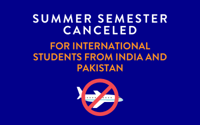 Summer Semester Cancelled due to Travel Ban