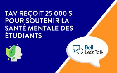 TAV reçoit $ 25 000 pour la santé mentale des étudiants